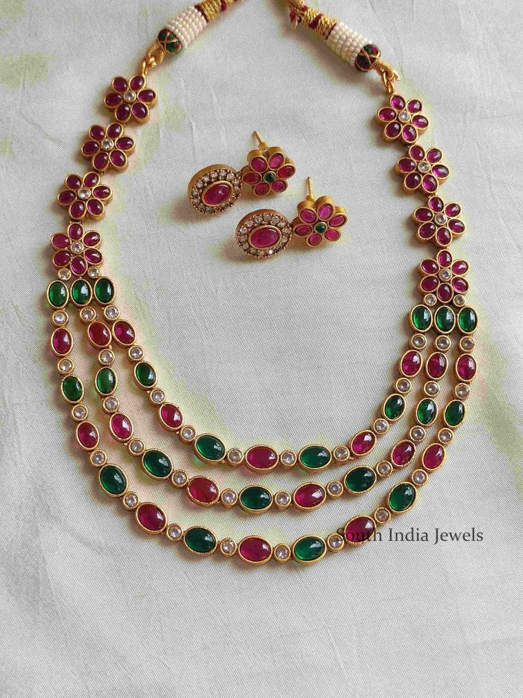 Beautiful Layered Kemp Necklace (3)