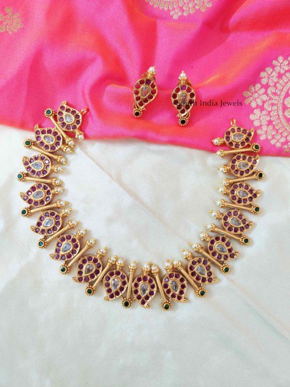 Beautiful Mango Design Necklace (2)