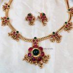 Beautiful Pink & Green Attigai Necklace