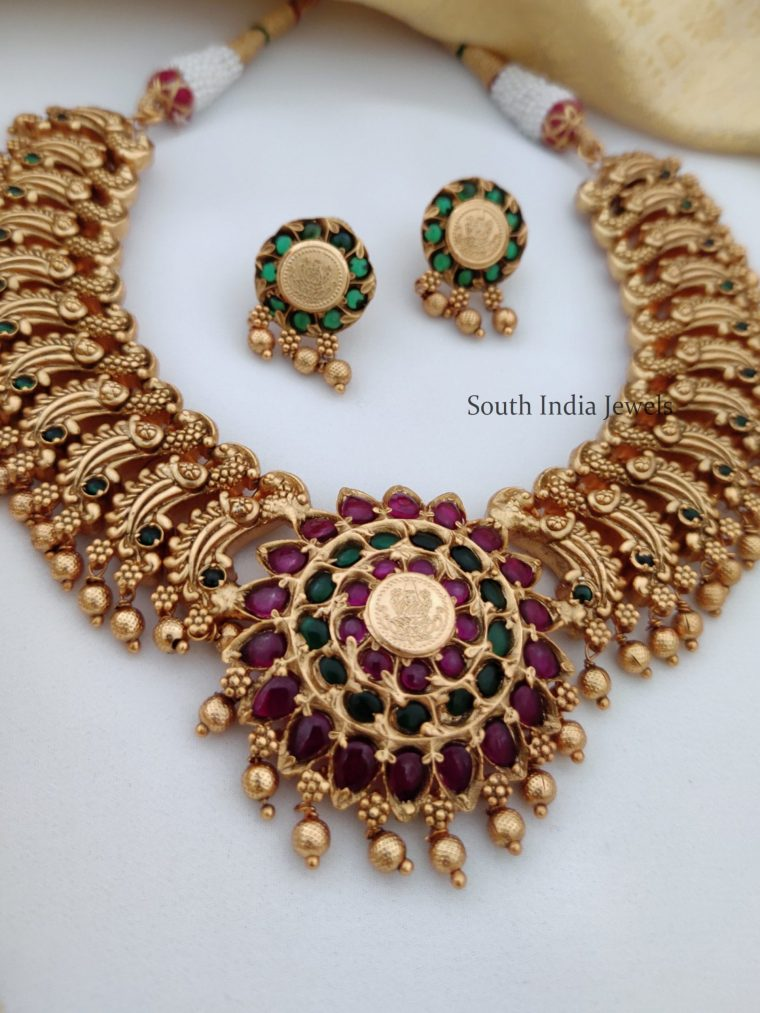 Beautiful Real Kemp Peacock Necklace