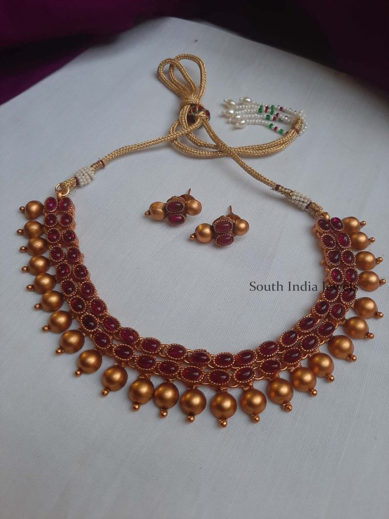 Beautiful Red Stone Necklace