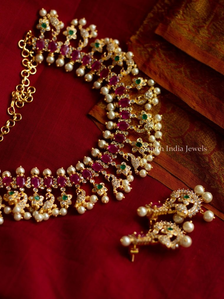 Beautiful Ruby & Pearl Necklace