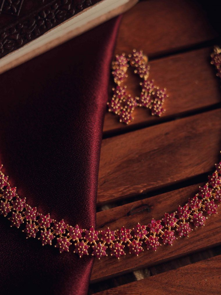 Beautiful Ruby Star Necklace
