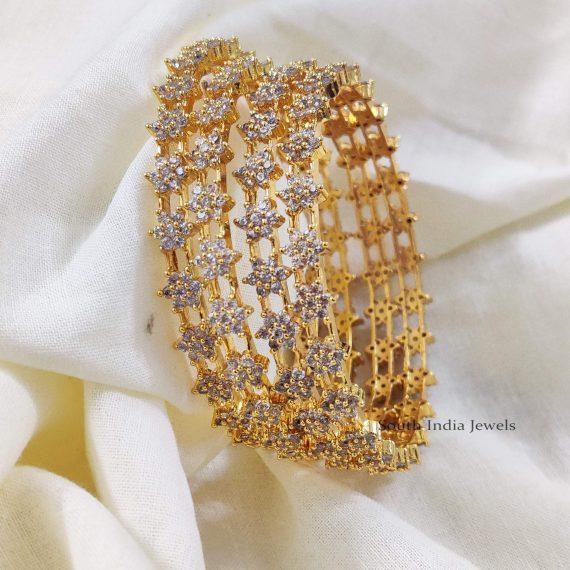 Beautiful Star White Stone Bangles