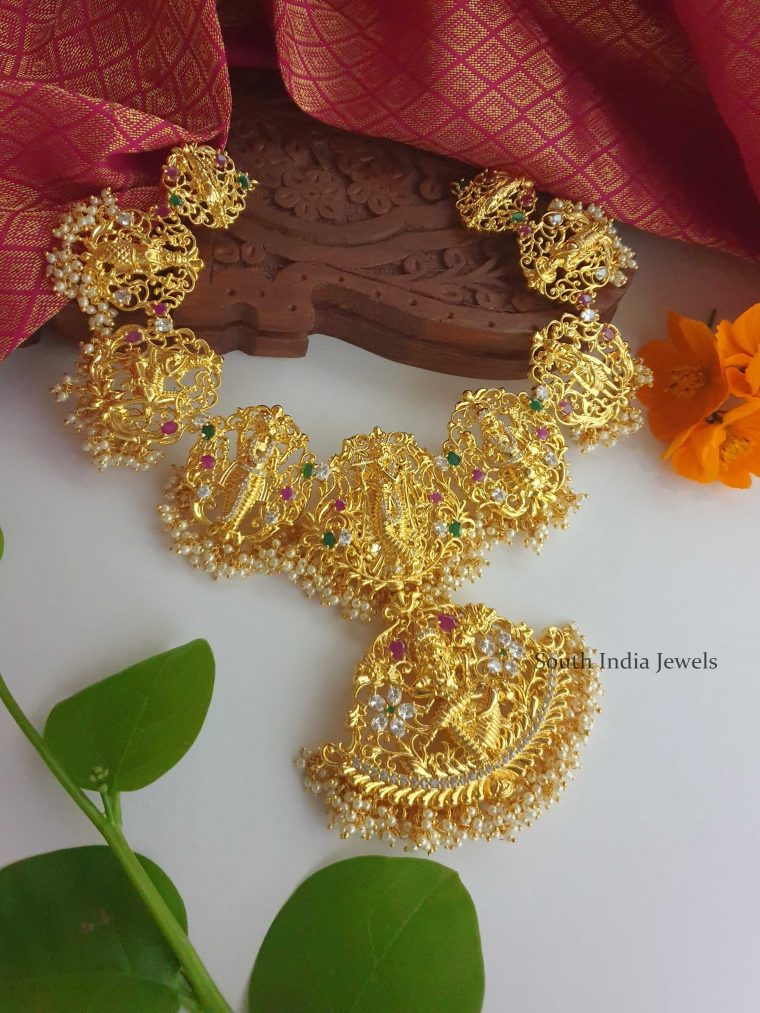 Classic Dashavatara Necklace (2)