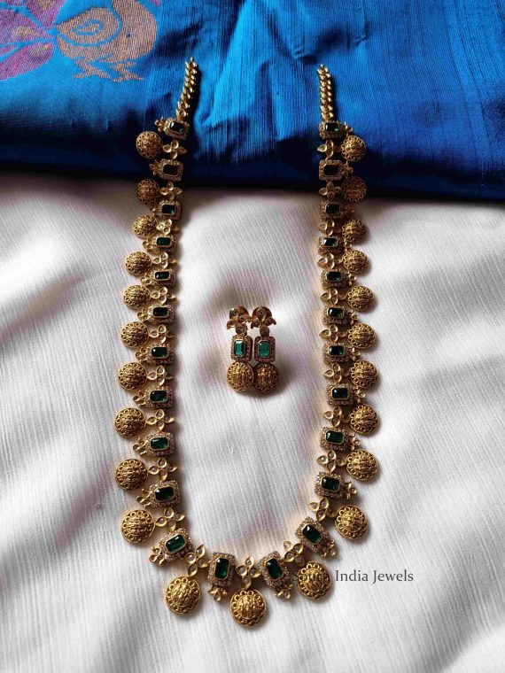 Classic Ramparivar Green Stone Haram (3)