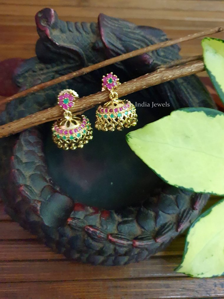 Cute Flower Design Jhumkas
