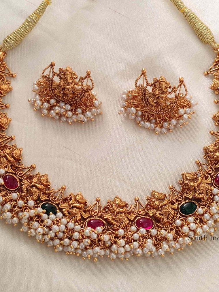 Elegant Ganesh Kemp Necklace