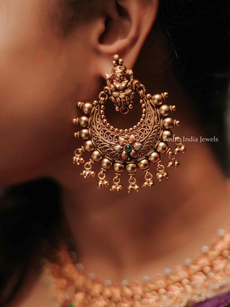 Elegant Lakshmi Chandbali Earrings