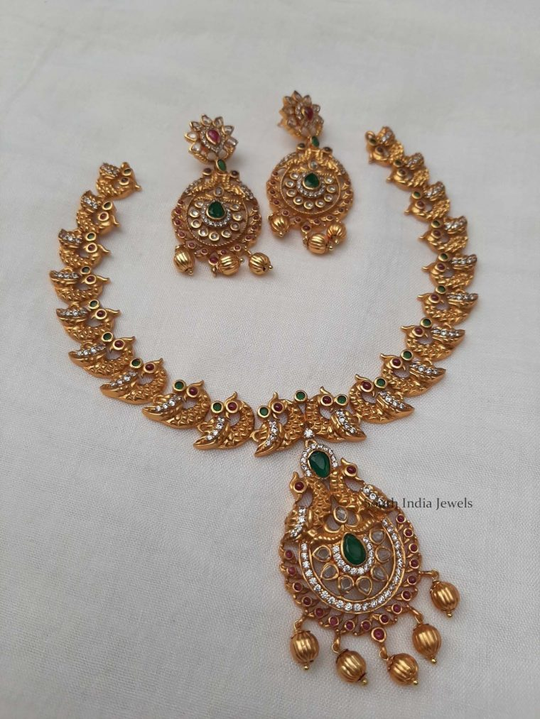 Elegant Peacock Design Necklace