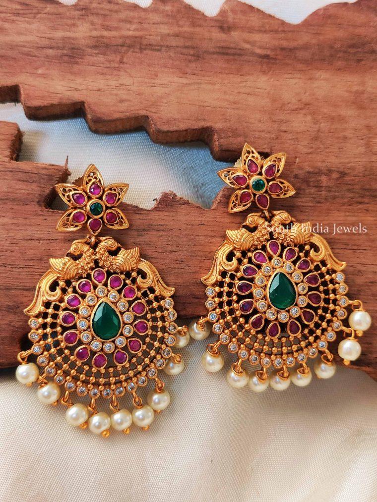 Grand Kemp & Emerald Pearl Drop Earrings