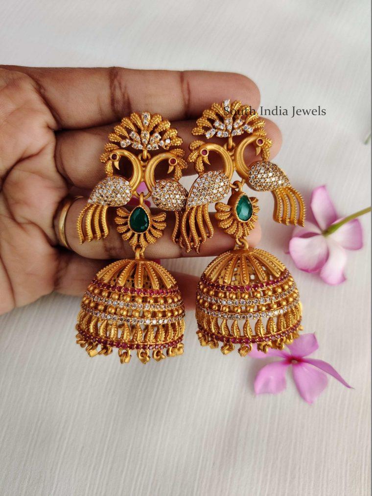 Grand Peacock Design Jhumkas