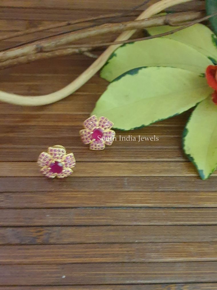 Lovely Flower Design Earrings (3)
