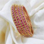 Lovely Pink Stone Bangles (2)