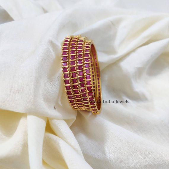 Lovely Pink Stone Bangles