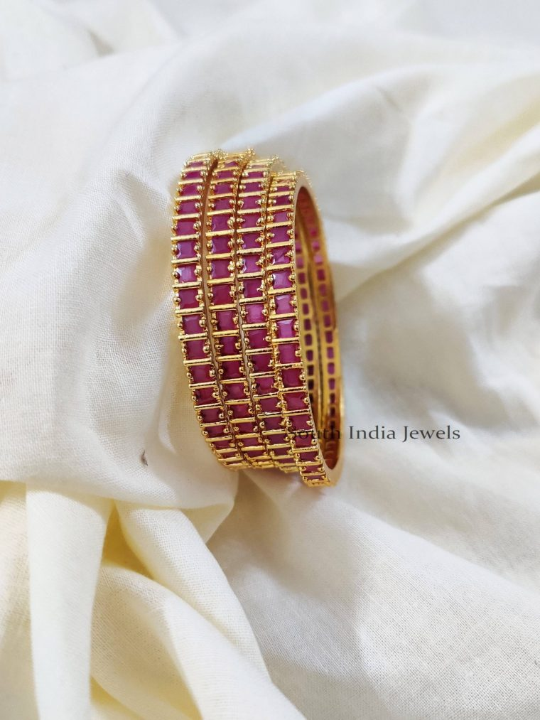 Lovely Pink Stone Bangles