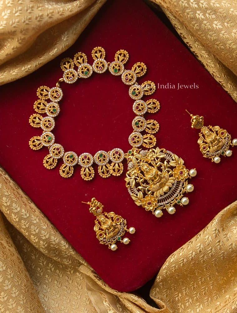 Pretty AD Stone Bridal Necklace