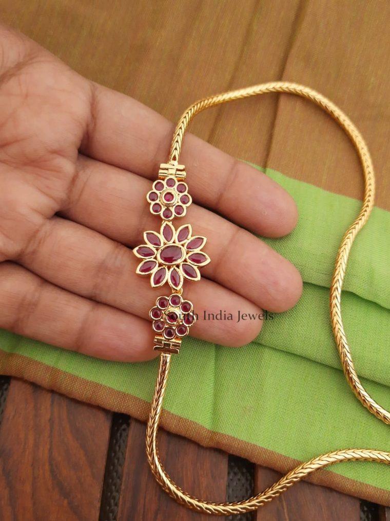 Pretty Flower Design Mogappu Chain