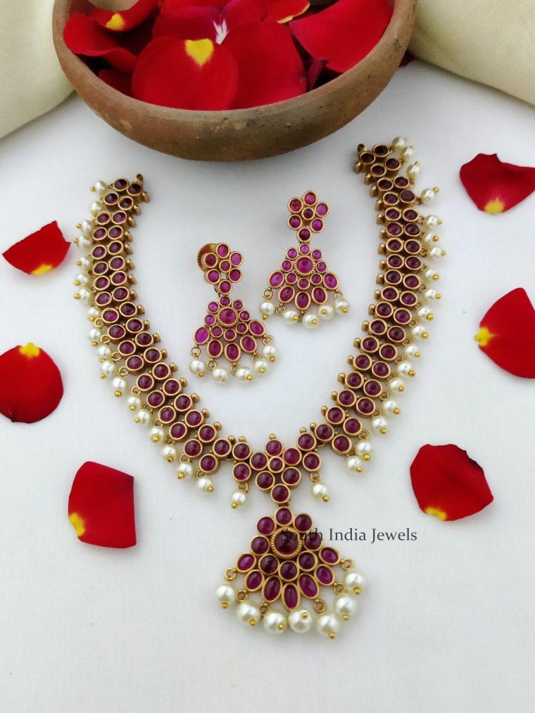 Pretty Kemp & Pearl Necklace-01