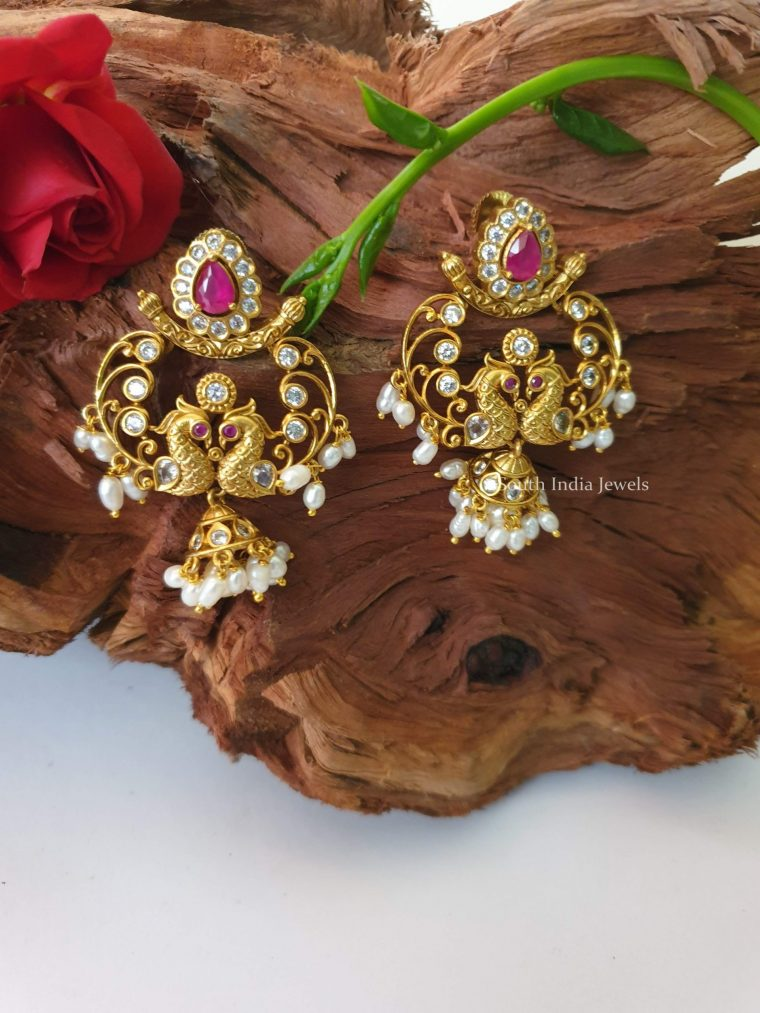 Stunning Peacock Chandbali Earrings