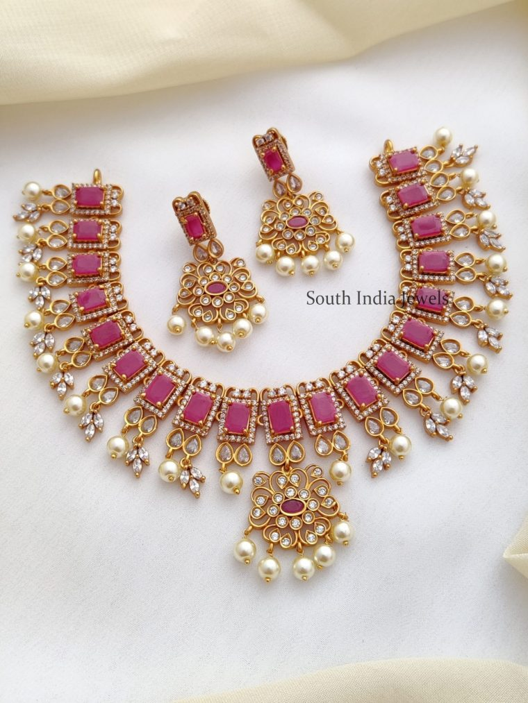 Traditional AD Ruby Stone Necklace