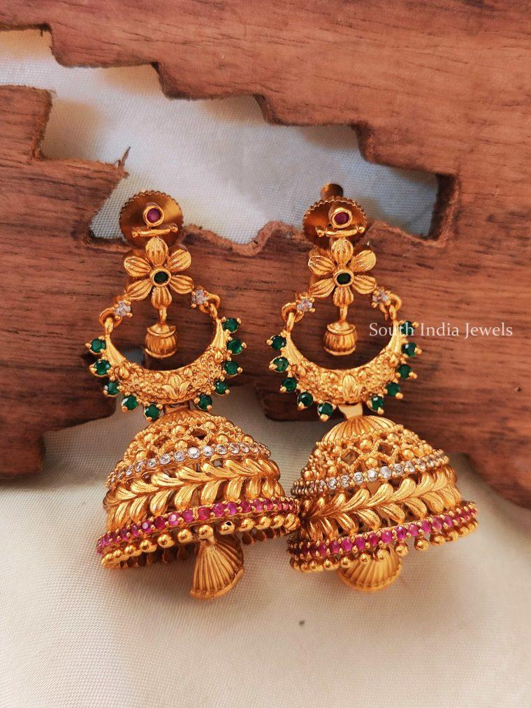 Traditional Floral Design Jhumkas