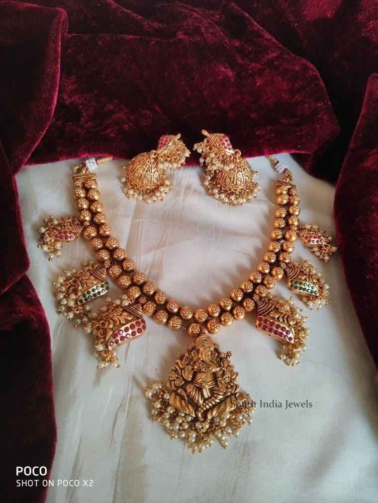 Traditional Ganesha Design Necklace (4)