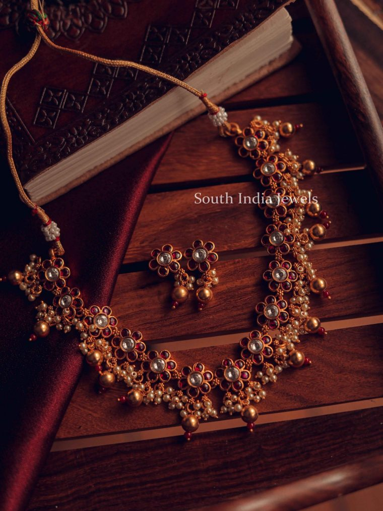 Traditional Kemp Floral Design Necklace