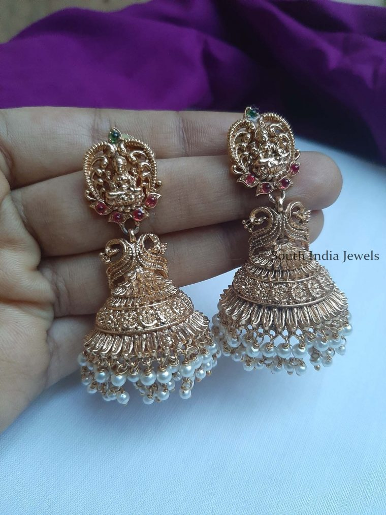 Traditional Lakshmi Design Earrings