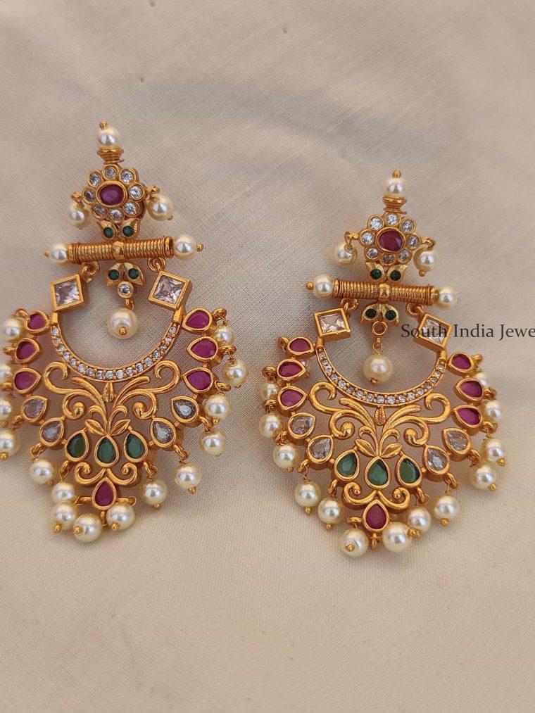 Traditional Long Chandbali Earrings