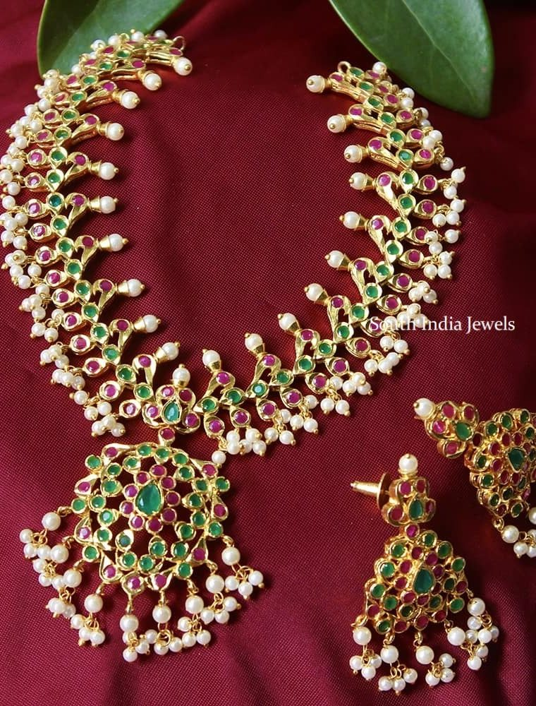 Traditional Multi Stone Necklace