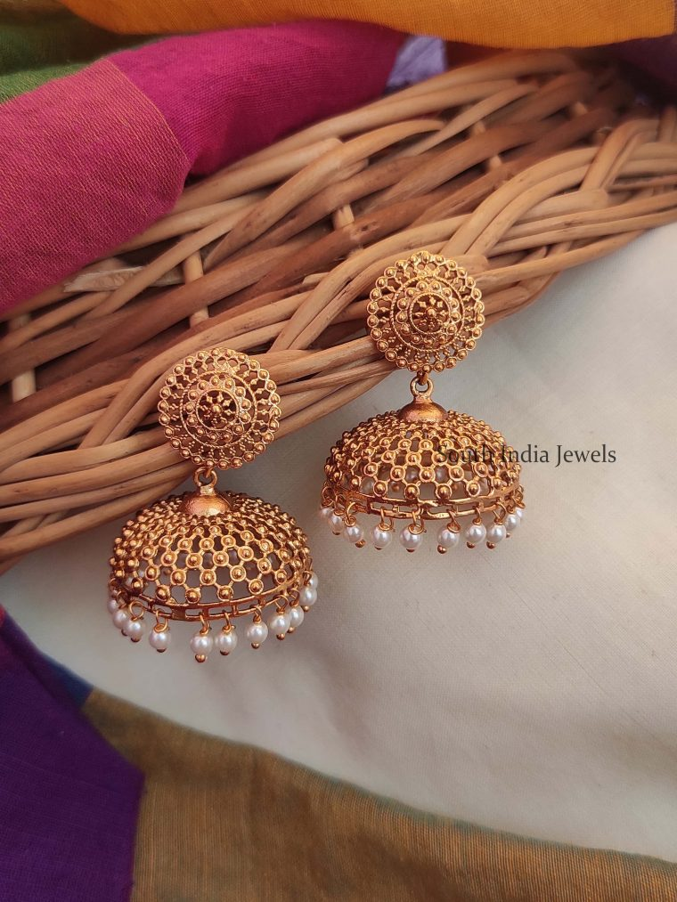 Traditional Pearl Hanging Jhumka