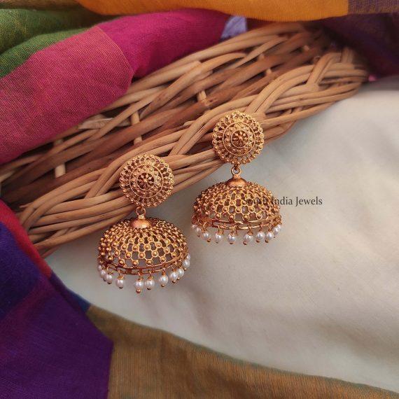 Traditional Pearl Hanging Jhumka