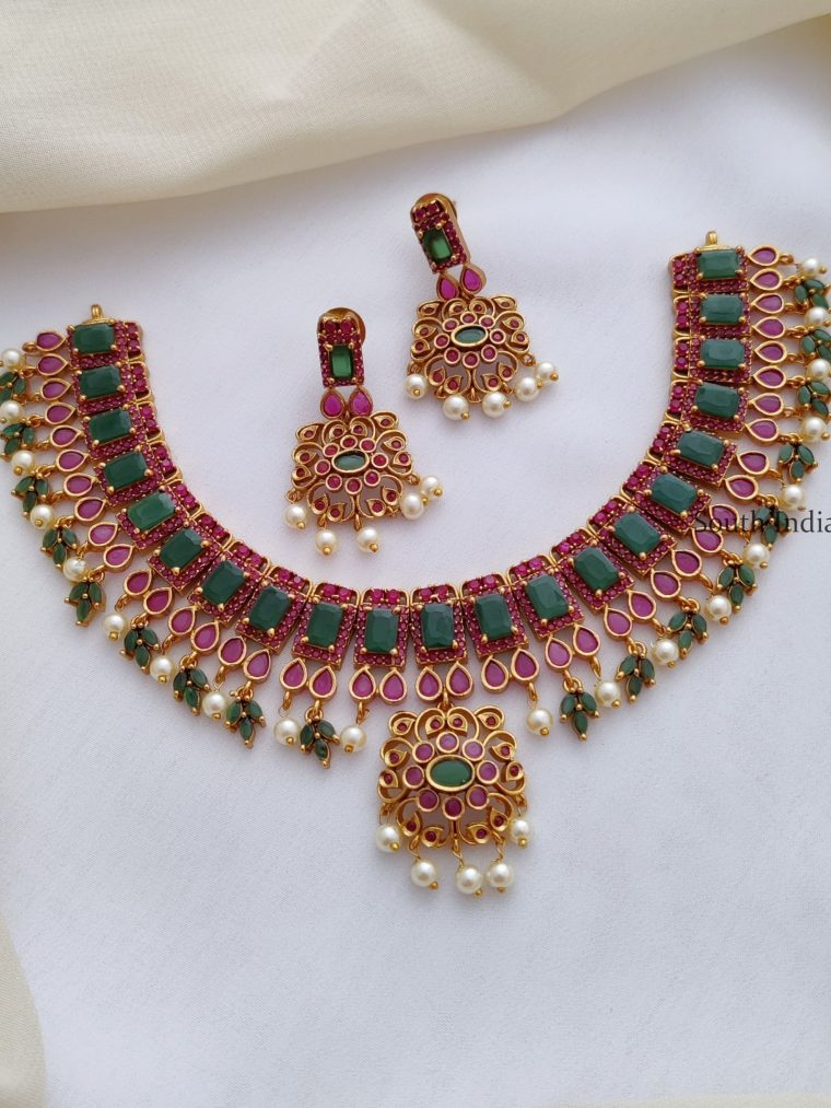 Traditional Red and Green AD Necklace