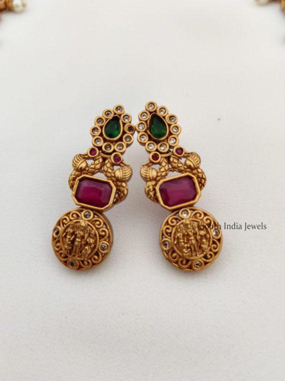 Traditional Ruby & Green Ram Parivar Haram
