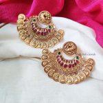 Trendy Lakshmi Coin Earrings