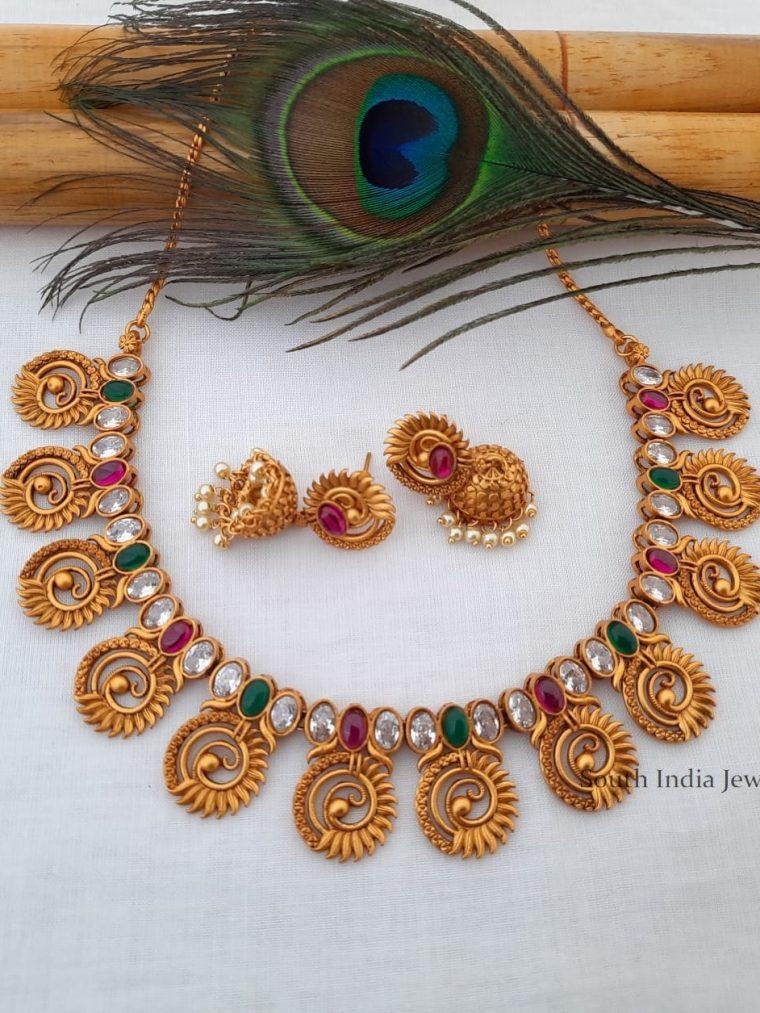 Trendy Peacock Design Necklace