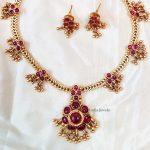 Trendy Pink Attigai Necklace