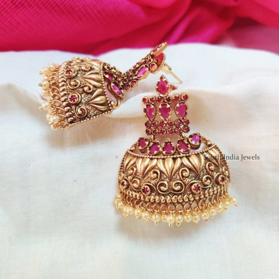 Unique Half Cut Jhumkas