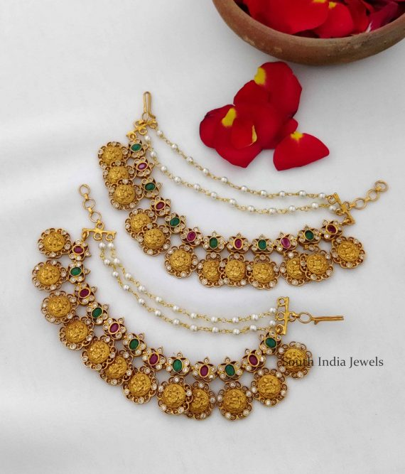 Unique Ruby & Green Stone Lakshmi Mattal