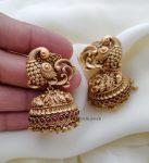 Antique Bridal Peacock Jhumka