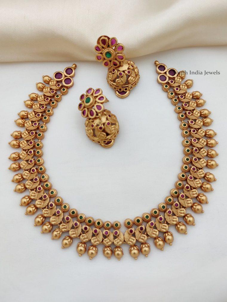 Antquie Peacock Design Necklace