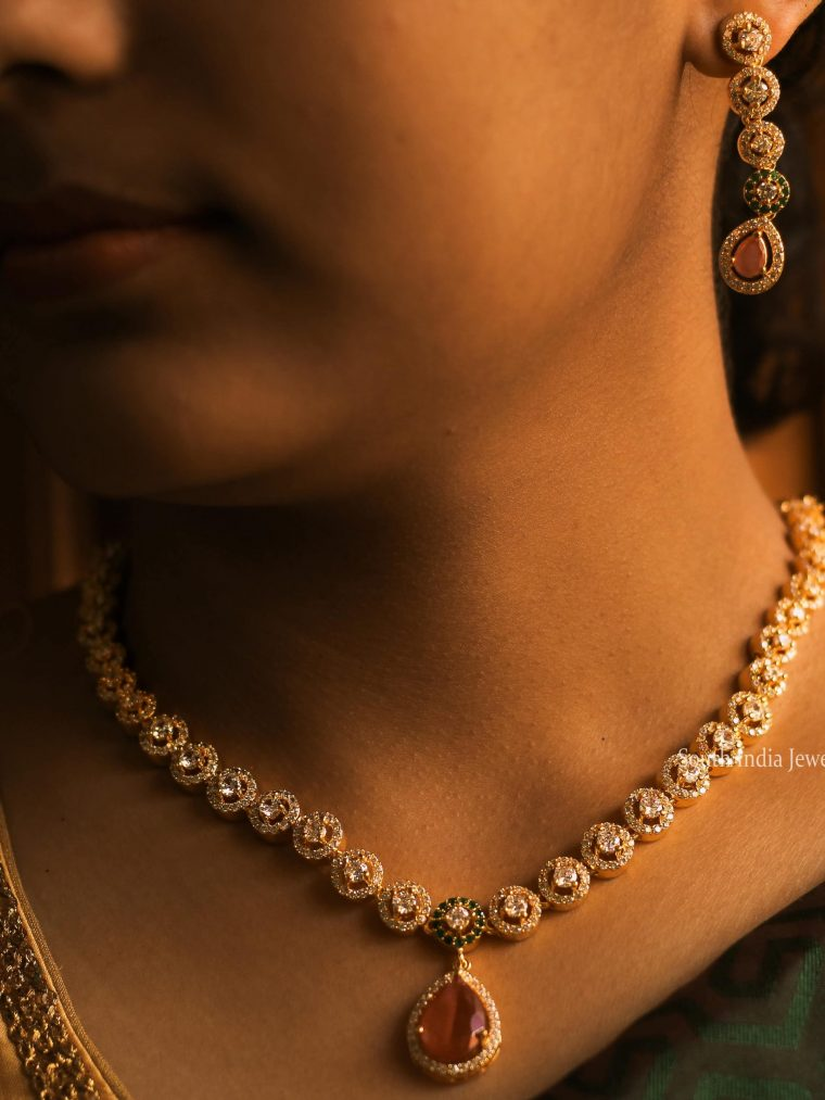 Beautiful AD Stone Necklace