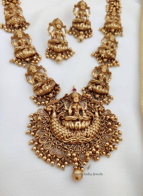 Beautiful Antique Lakshmi Haram (2)