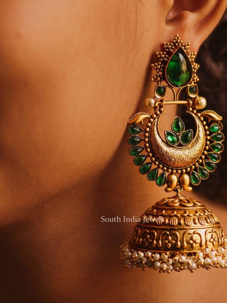 Beautiful Emerald Jhumka