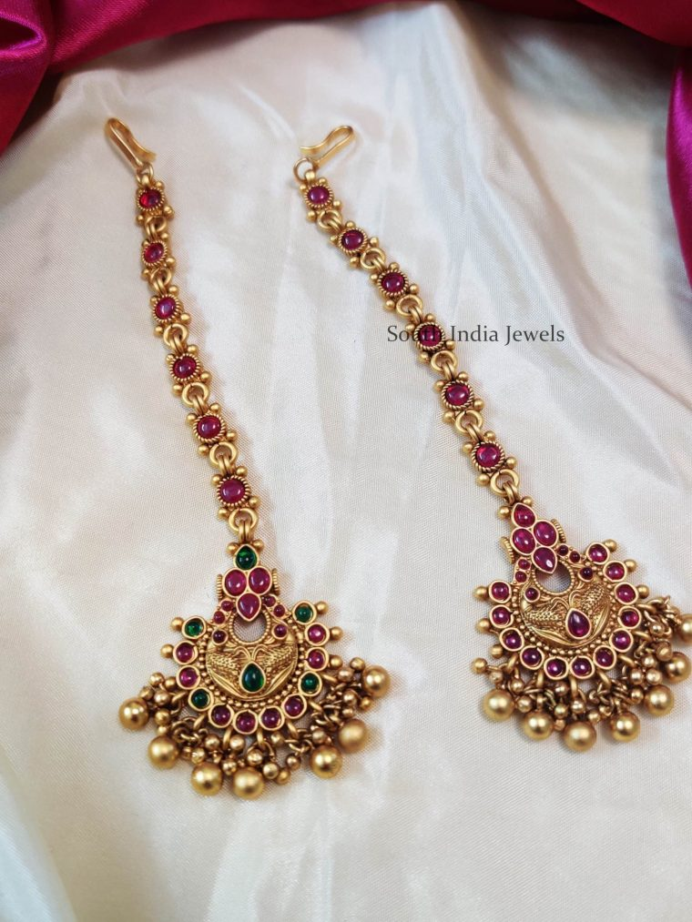 Beautiful Golden Beads Maang Tikka
