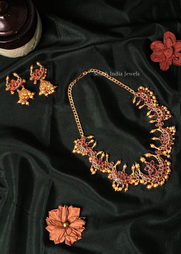 Beautiful Half Moon Kemp Necklace