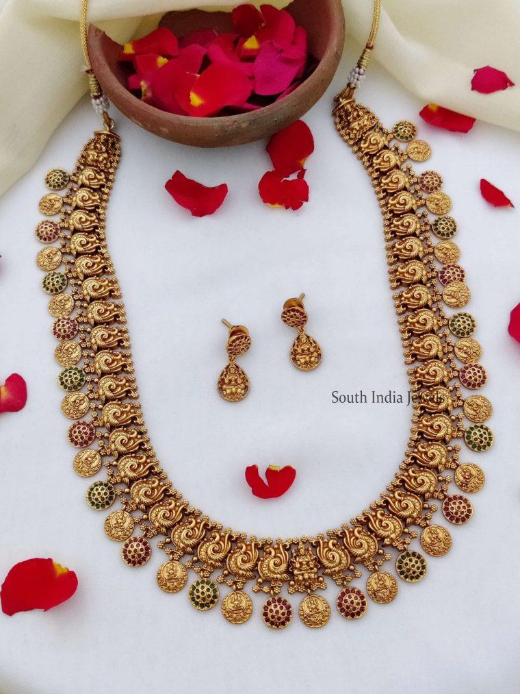 Beautiful Lakshmi Coin Long Haram