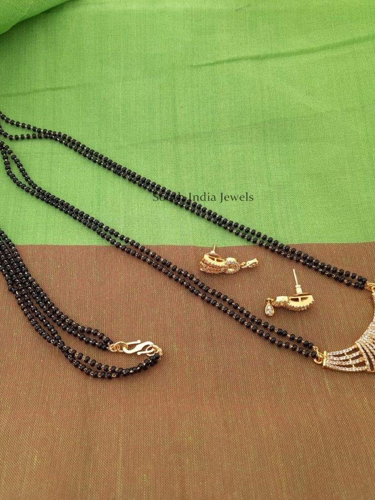 Beautiful Mangalsutra with CZ Stone Pendant