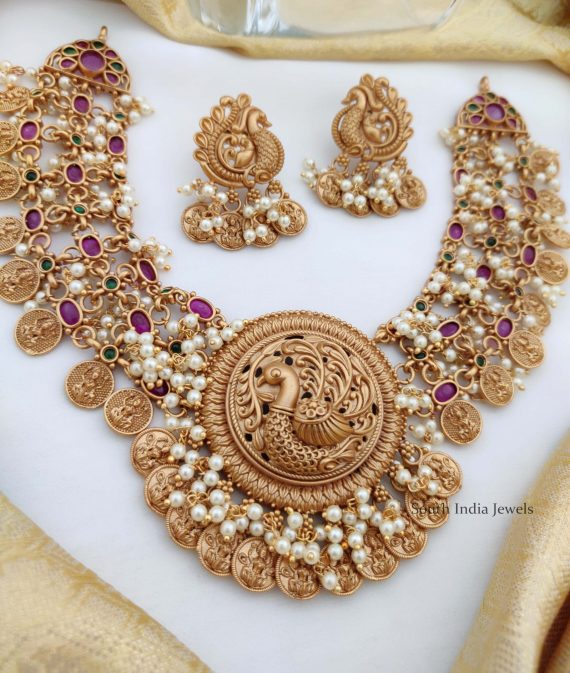 Beautiful Peacock Coin Necklace (3)